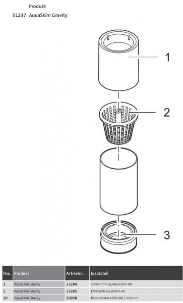 Oase AquaSkim Gravity ( 51237 )