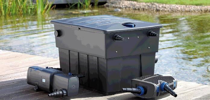 Filtersets mit UVC, Teichfilter und Pumpe