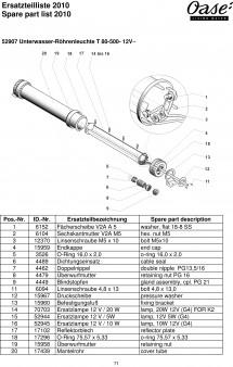Oase Unterwasser Röhrenleuchte T 80-500-12V