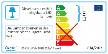 biOrb Aquarieum Tube 15 MCR weiß