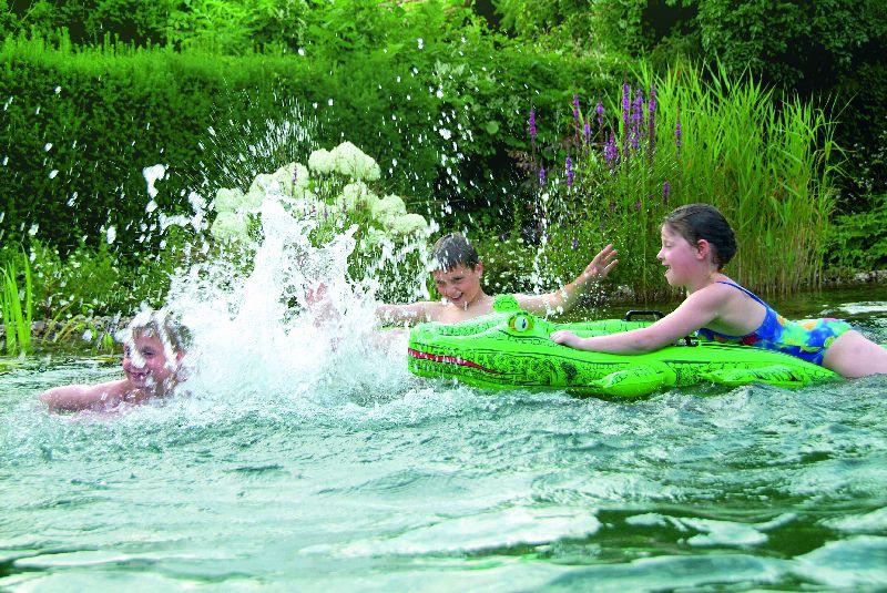 Schwimmteich ohne technik schwimmteich natur knecht ag for Folienverlegung schwimmbad
