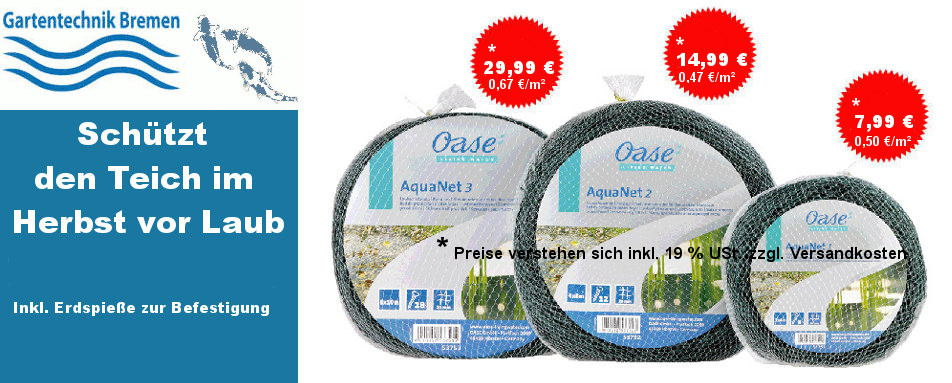 Oase Teichschutz Netze Teichnetze